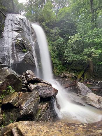 Waterfalls near Asheville NC High Shoals Falls South Mountains State Park NC