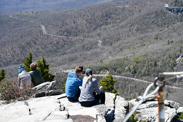 enjoying the views at Rough Ridge