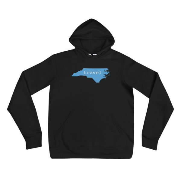 unisex pullover hoodie black front 607721a7415db