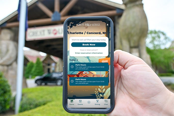 App at Great Wolf Lodge NC