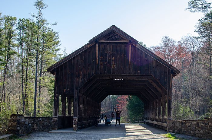 Covered Bridge near Bridal Veil Falls DuPont State Recreational Forest