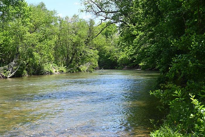Dan River inside Hanging Rock State Park NC