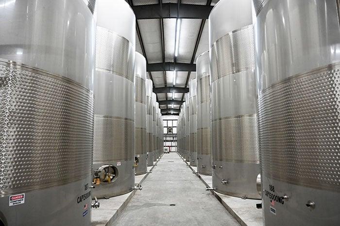 Duplin winery production tanks