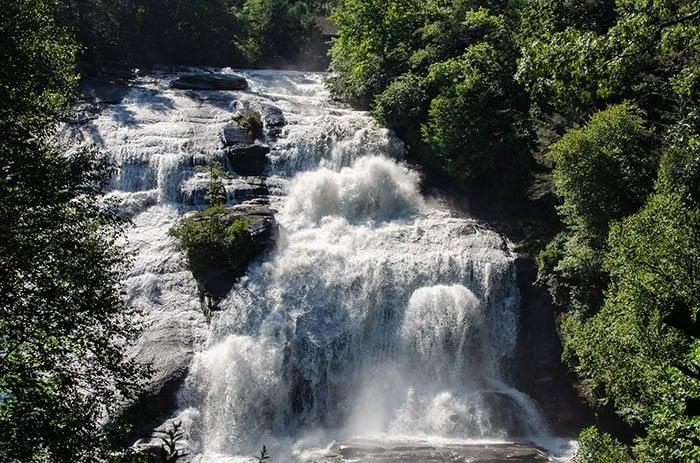 High Falls DuPont State Recreational Forest NC near Bridal Veil Falls