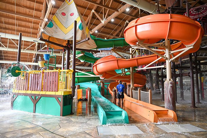 Kid Slides at Great Wolf Lodge Concord NC