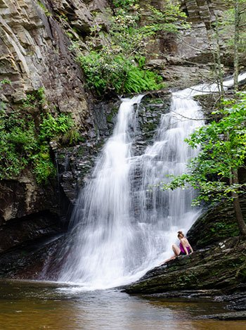 Lower Cascades Falls Hanging Rock State Park Stokes County NC