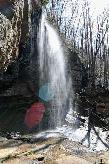 Moore Cove Falls bokeh