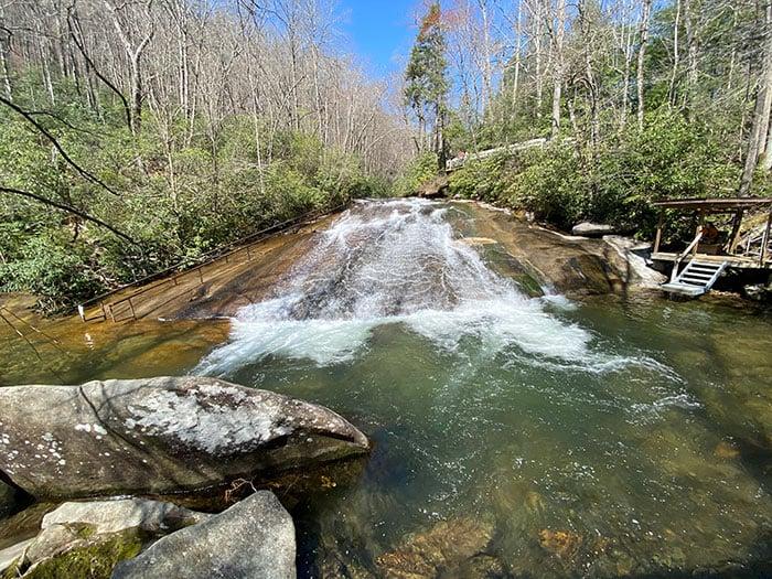 Sliding Rock near Brevard North Carolina