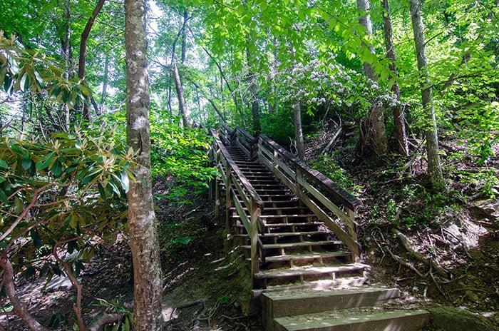 Stone Mountain Falls Stairway