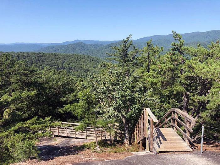 Stone Mountain Loop NC Summit Side Stairs