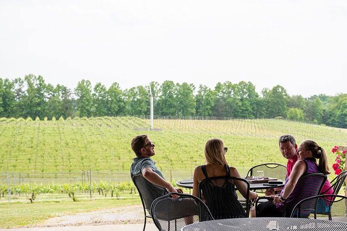 Surry County Wine Trail Round Peak Vineyards Yadkin Valley NC