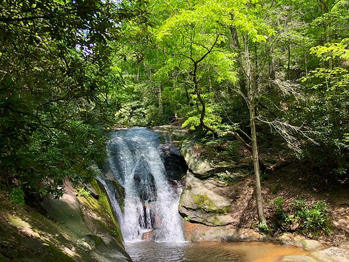 Widows Creek Falls in Stone Mountain State Park