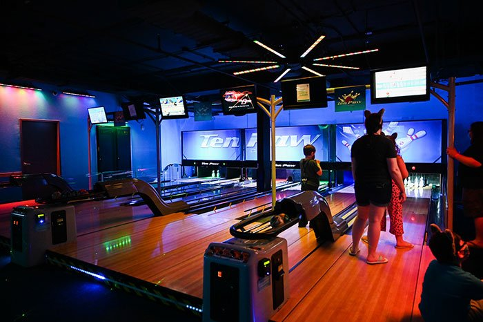 bowling alley at Great Wolf Lodge Concord NC