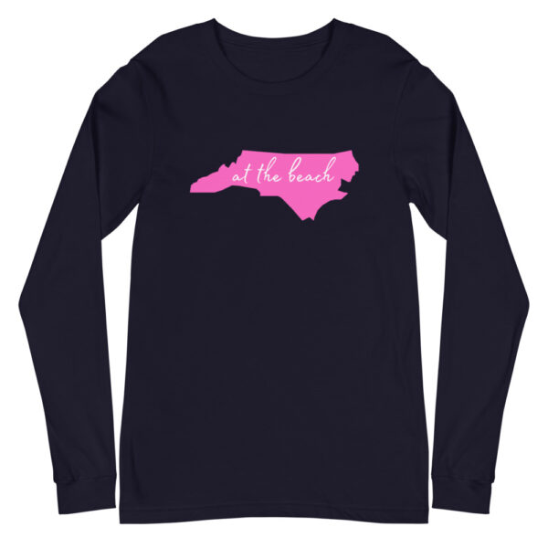 unisex long sleeve tee navy front 60acffed90f10