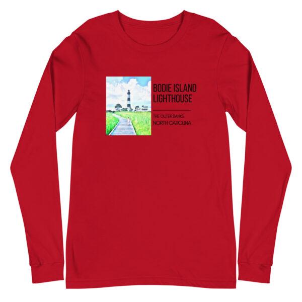 unisex long sleeve tee red front 6099d12d28d24