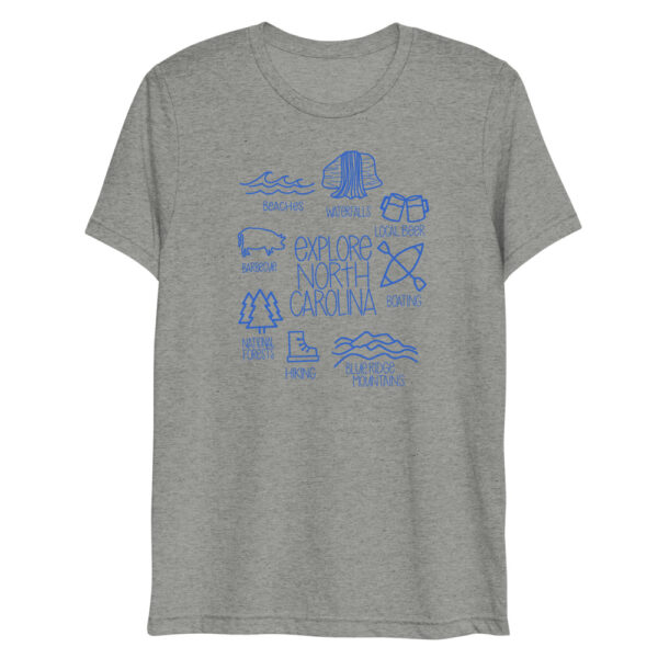 unisex tri blend t shirt athletic grey triblend front 6090389b51f8d