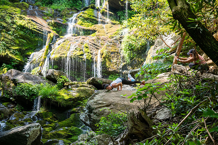 Catawba Falls yoga