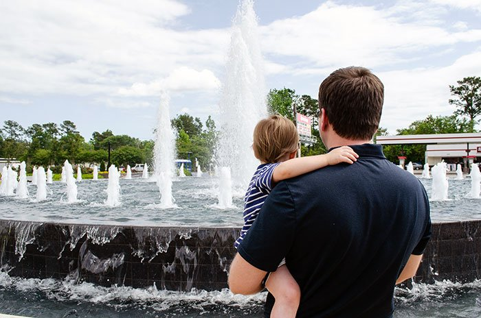 Jacksonville NC Freedom Fountain near Duplin County NC