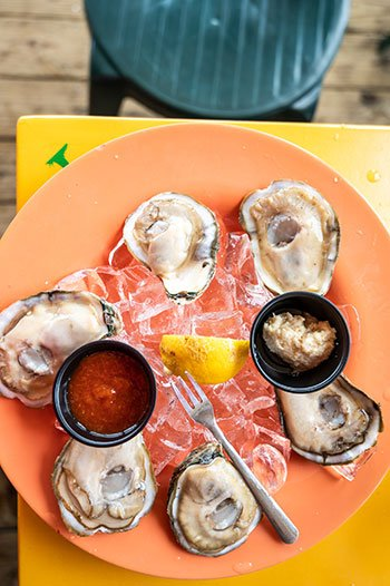 Oysters at Castaways Holden Beach NC