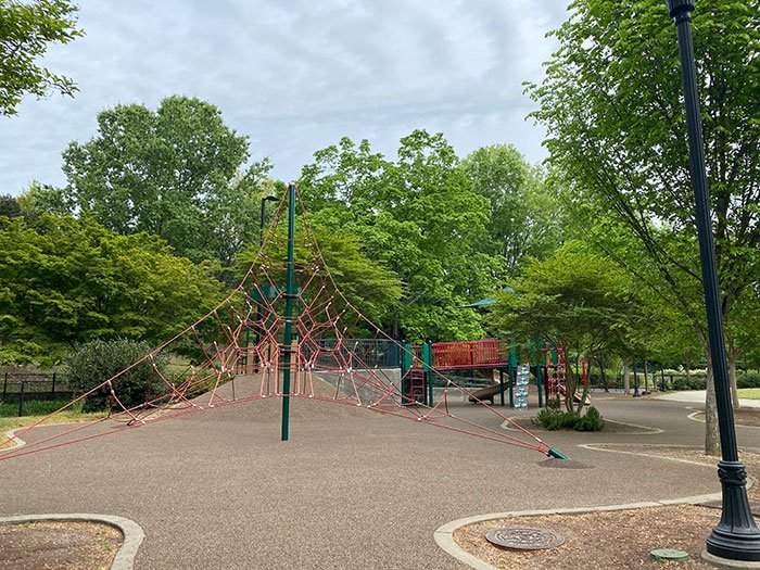 Play structure at Pullen Park