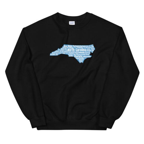 unisex crew neck sweatshirt black front 60bf48d4f2fe6