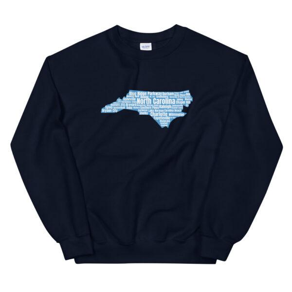 unisex crew neck sweatshirt navy front 60bf48d4f31f3