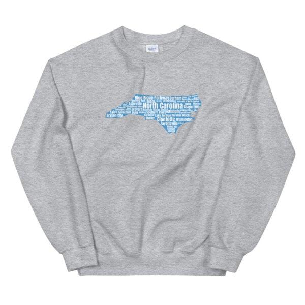 unisex crew neck sweatshirt sport grey front 60bf48d4f3d40