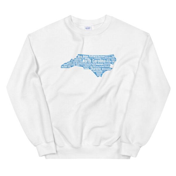 unisex crew neck sweatshirt white front 60bf48d4f24bf