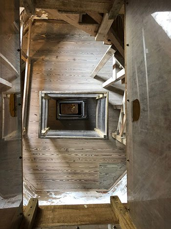 Bald Head Island Lighthouse Looking Down Stairs