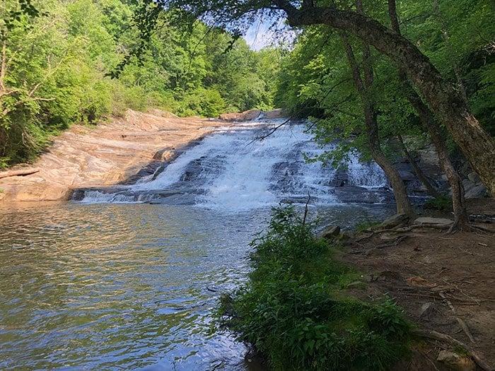 Carter Falls Upper Falls Elkin near Stone Mountain State Park