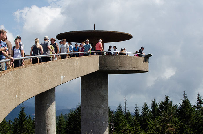 Clingmans Dome Observation Tower near Bryson City NC