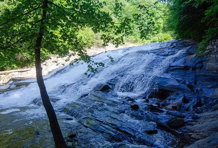 Close up of Carter Falls Elkin NC
