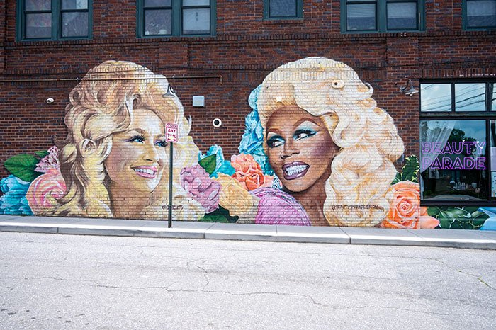 Dolly Mural in Asheville NC