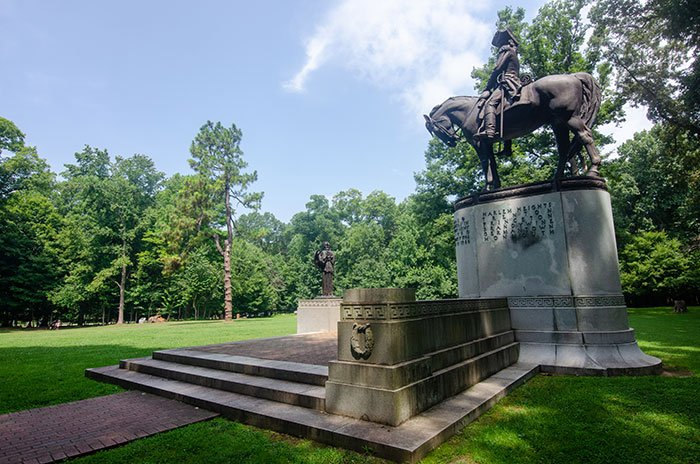 General Nathaniel Greene Monument Guilford Courthouse Greensboro NC