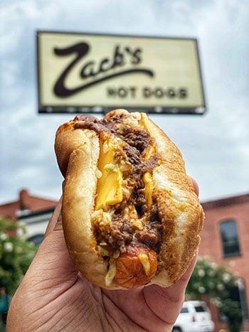 I 40 Exits in North Carolina Zacks Hot Dogs in Burlington
