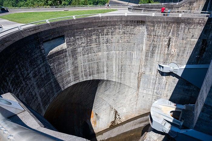 Inside Fontana Dam