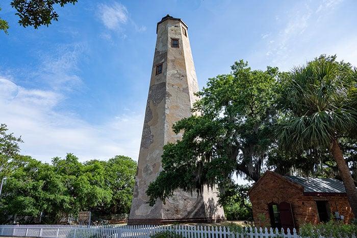 Old Baldy Lighthouse on Bald Head Island NC