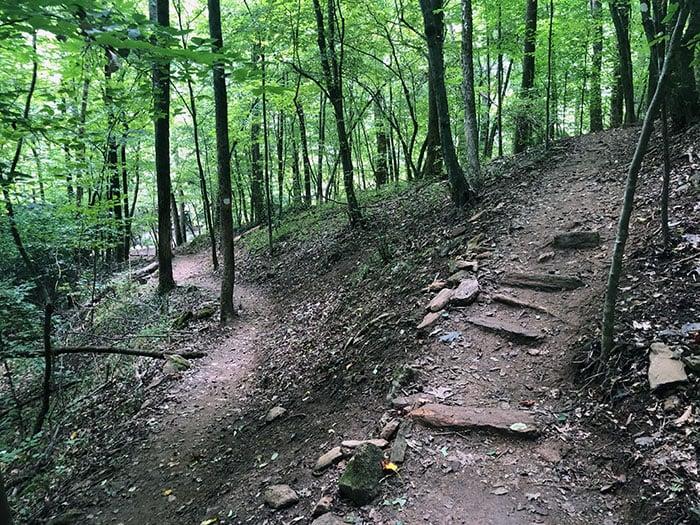 Powerhouse Trail Switchbacks near Carter Falls NC