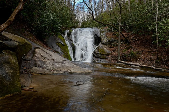 Waterfalls near Boone Widows Creek Falls Stone Mountain State Park