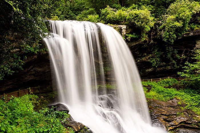 Dry Falls near Highlands and Franklin North Carolina