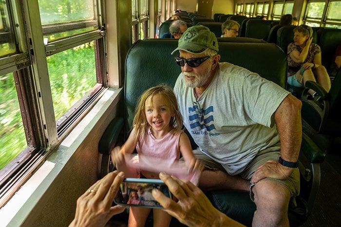 Great Smoky Mountain Railroad Bryson City family