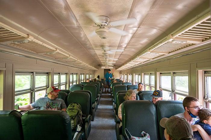Great Smoky Mountain Railroad inside the train