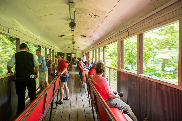 Great Smoky Mountain Railroad open air cars
