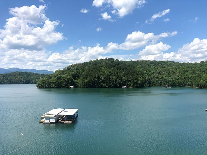 Great Smoky Mountain Railroad view of Fontana Lake