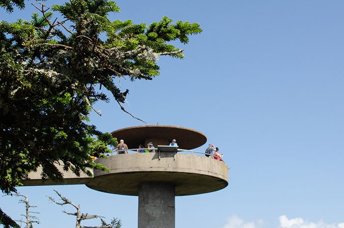 Hiking Trails in North Carolina Clingmans Dome Observation Tower