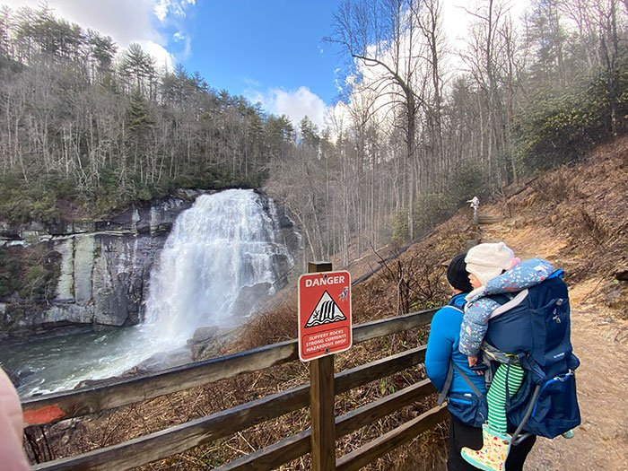 Hiking Trails in North Carolina Rainbow Falls Gorges State Park Pisgah National Forest