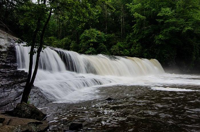 Hooker Falls inside Dupont State Forest North Carolina