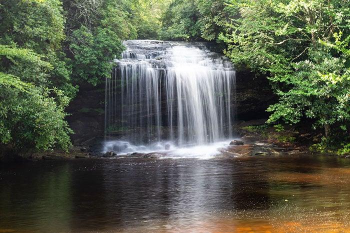 Schoolhouse Falls Beautiful NC Waterfalls