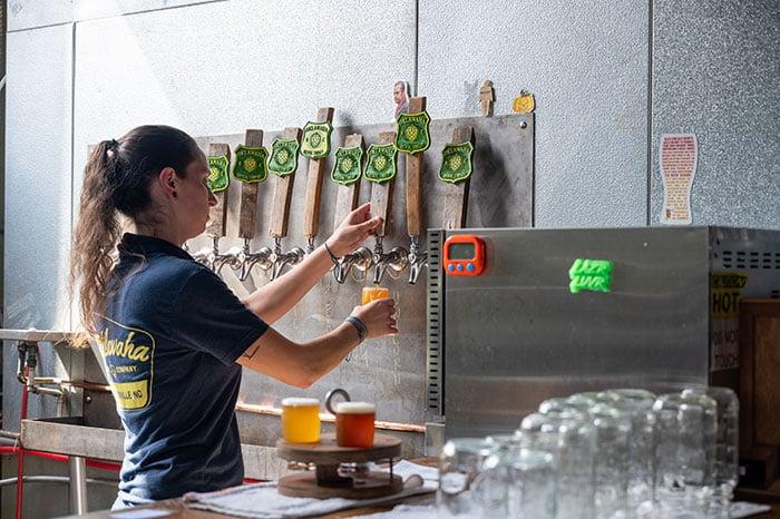 Taps at Oklawaha Brewing