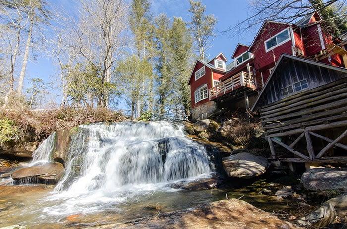 Waterfalls near Asheville French Broad Falls Transylvania County